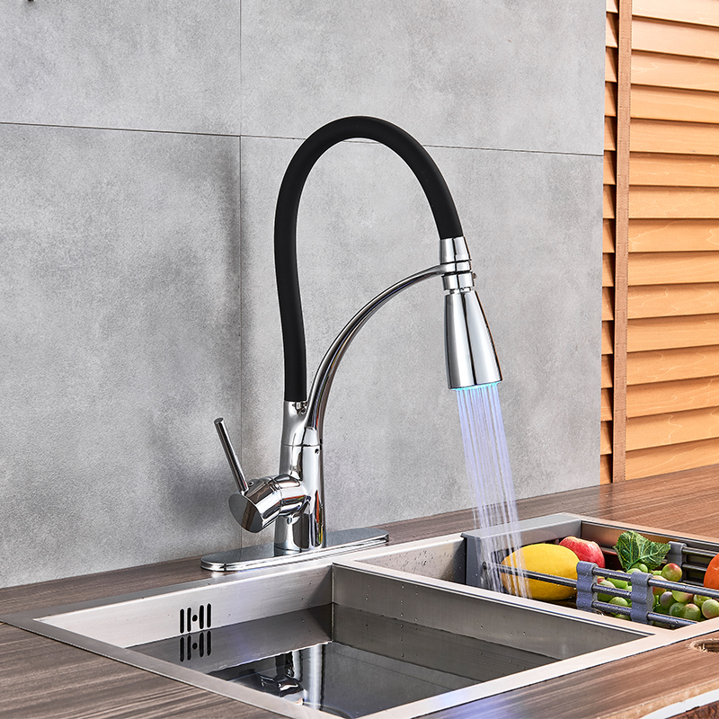 цена на Chrome Kitchen Sink Faucet Kitchen Tap Cold and Hot Water Mixer Tap Torneira Single Handle Faucets