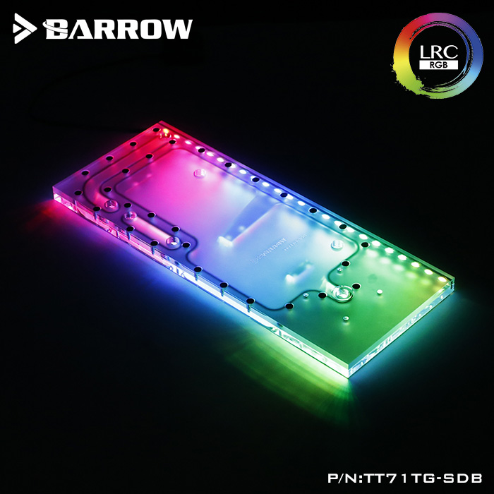 Barrow LRC 2.0 watercooling waterway board for Tt View 71 TG/TG RGB computer case acrylic plate compatible PRIME Z370-A цена