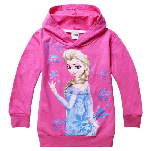 Children's Spring Long Sleeve Sweater Elsa Anna Snow White Car Cartoon Printing For Girls Boys 6 7 8 years Kids hoodies Clothing 2