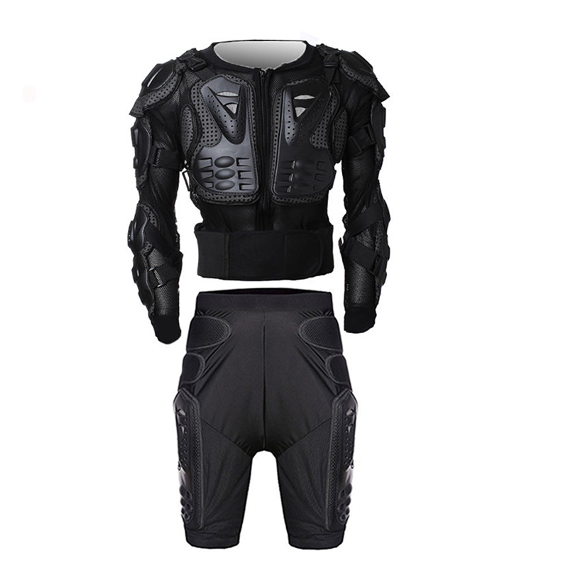 ФОТО Racing Motorcycle Body Armor Protective Jacket+ Gears Short Pants Moto Motorcross Protective Gear Motorbike Protector Clothes