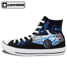 Custom Converse Hand Painted Shoes Fast and Furious High Top Canvas Sneaker Unique Birthday Gifts for Men Women
