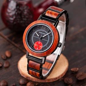 Image 2 - BOBO BIRD montre pour amoureux, luxe, bracelet en bois pour Couple élégant et de qualité, combinaison de couleur spéciale, K R12