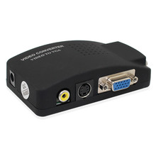 RCA/AV untuk VGA Converter S Video Ke VGA Video Converter AV/RCA TO VGA Video Converter untuk PC Notebook(China)