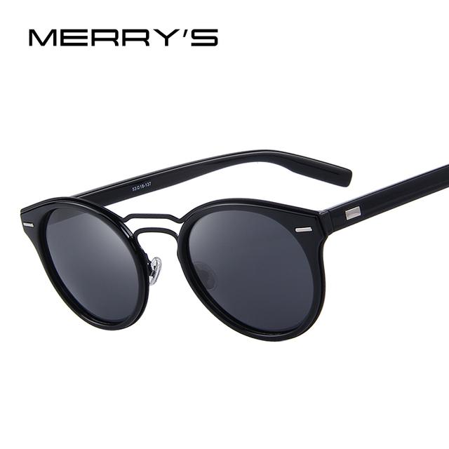 Merry's mulheres retro oval óculos de sol dos homens clássico double-ponte polarizada tons s'8090