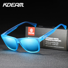 KDEAM Brand Polarized Men Sunglasses TR90 Ultralight Eyewear Frame Square Sun Glasses Polarization Travel Male Shades oculos X44