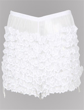 Solid transparent lace plus size panties S-6XL