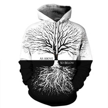 2019 Fashion 3d Hoodies Women/Men Sweatshirts Print Tree Thin Hooded Hoodie Hoody harajuku
