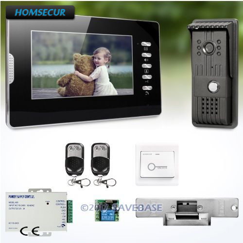 7 видеодомофон Системы с удобным Дизайн немой режим для хорошего ночного сна HOMSECUR + удар замок