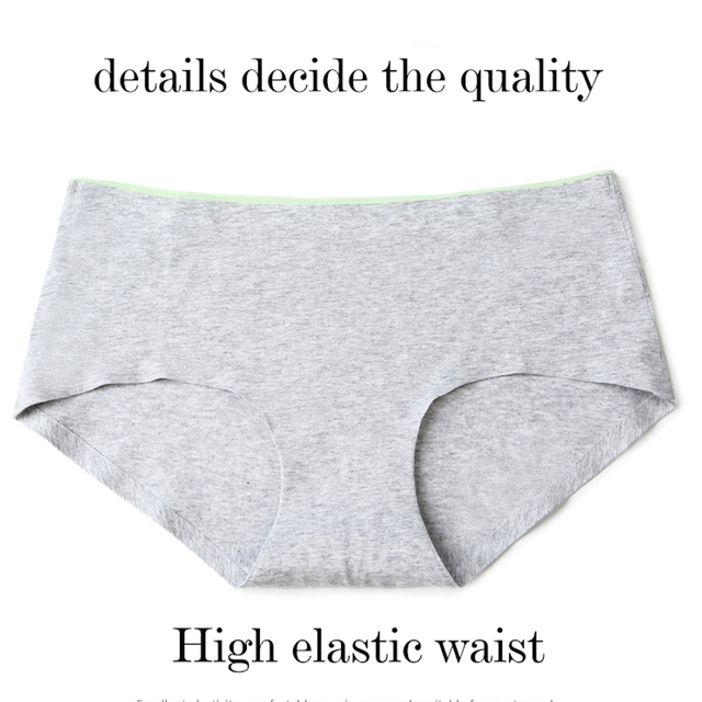 8Pcs Briefs for Women fashion sexy woman panties Solid seamless underpants  cpanties for women cotton underwear girl knickers 3