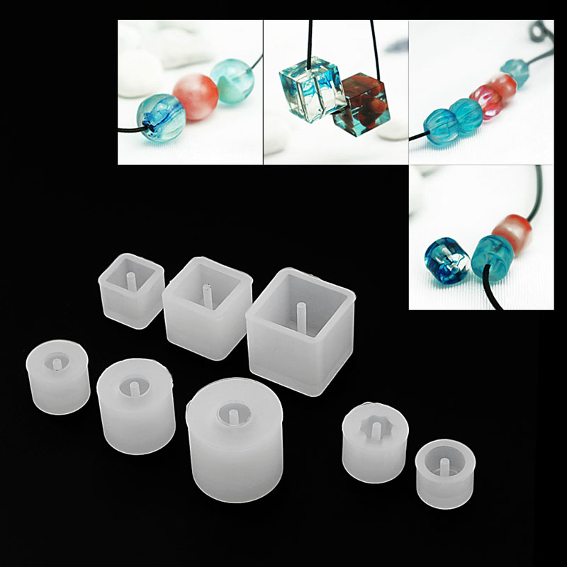 Geometric Jewelry Necklace Pendant Making Mold Tools Silicone Resin Craft DIY