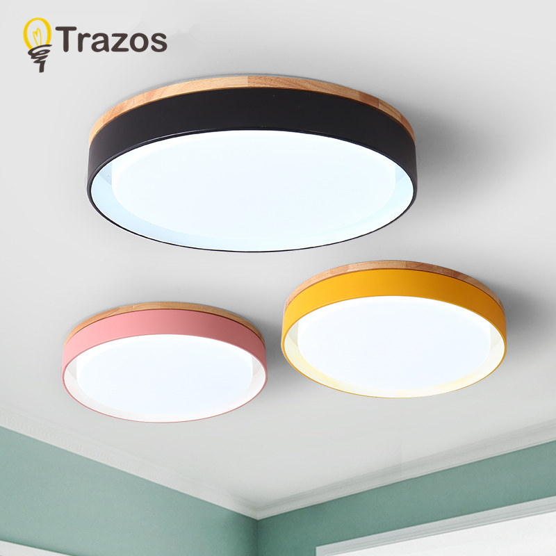 Ceiling Lights & Fans Nordic Modern Simple Chandelier Wood Creative Children Room Lamp Bedroom Fashionable Room Living Room Light Solid Wood Lamps