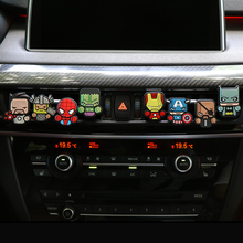 Cartoon Air Freshener Car Styling Perfume The Avengers Marvel Style For Air Condition Vent Outlet Superman Batman Fashion Cool(China)
