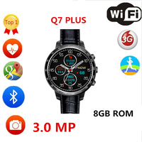 2017 Q7 PLUS smart watch with 3.0 MP Camera support 32GB TF card 3G Wifi bluetooth 4.0 for Android PK H1 kw88 Smartwatch