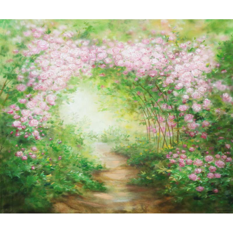 3X2.5m Photography Backdrops thin vinyl photo studio background Flower for wedding cm-0533