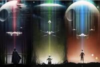 Master Yoda X Wing Han Solo Millennium Falcon Darth Vader TIE Bomber Movie Art Print Silk