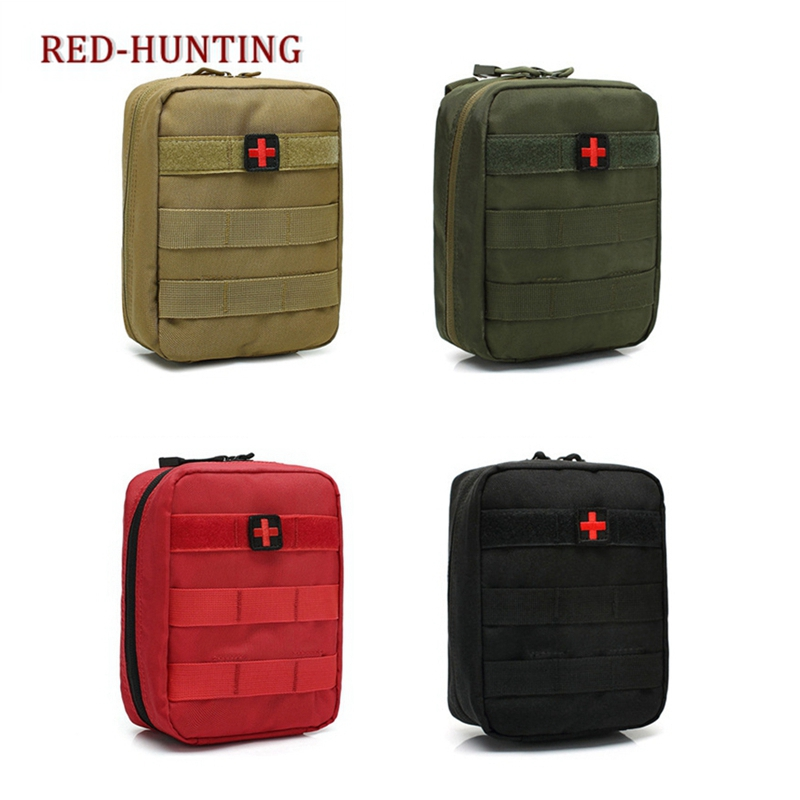 Camping & Hiking Universal First Aid Kit 55 Pieces Army Survival Tools 1000d Nylon Molle Emergency Bag Car Kit Emergency Blanket Safety & Survival