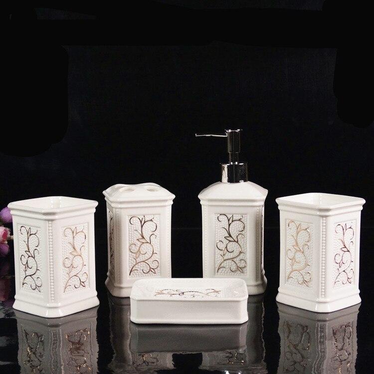 NEWYEARNEW Fashion Creative Bathroom Set Emulsion Bottle Accessories Set High grade Wash Gargle Cup Toothbrush Suit