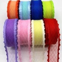 Ruban en dentelle de 1-1/2 38mm | Ruban de 5 ans, 10y et 20ans, fait à la main, laine en maille, couvre-chef, vêtements tendance, gaufrage en gaze