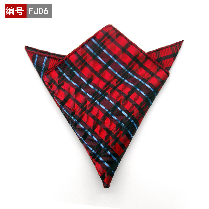 New 20 Colors Handkerchiefs Woven Plaid Paisly Striped Hanky Men's Business Casual Square Pockets Handkerchief Wedding Hankies
