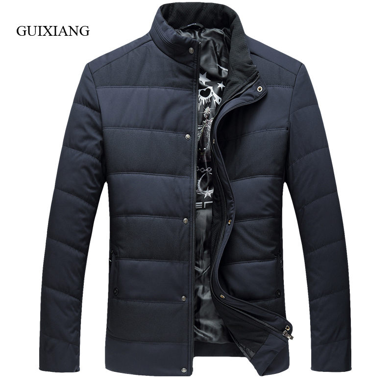 2017 new arrival style men boutique parkas business casual stand collar men's solid thick cotton-padded clothes large size L-6XL new arrival style men boutique parkas fashion solid detachable large hair collar men s loose thick jacket coat large size l 7xl