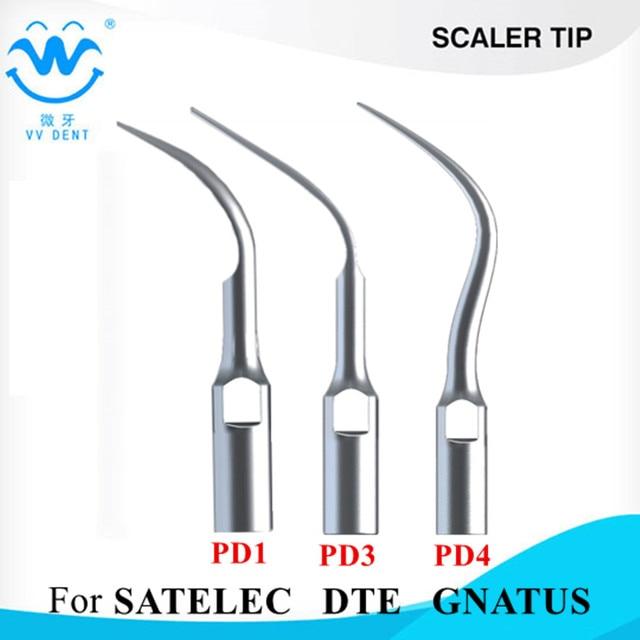 3 piezas dentales escala perio consejos para satelec pájaro carpintero-DTE utilizado para escarificador ultrasónico pieza de blanqueamiento de dientes