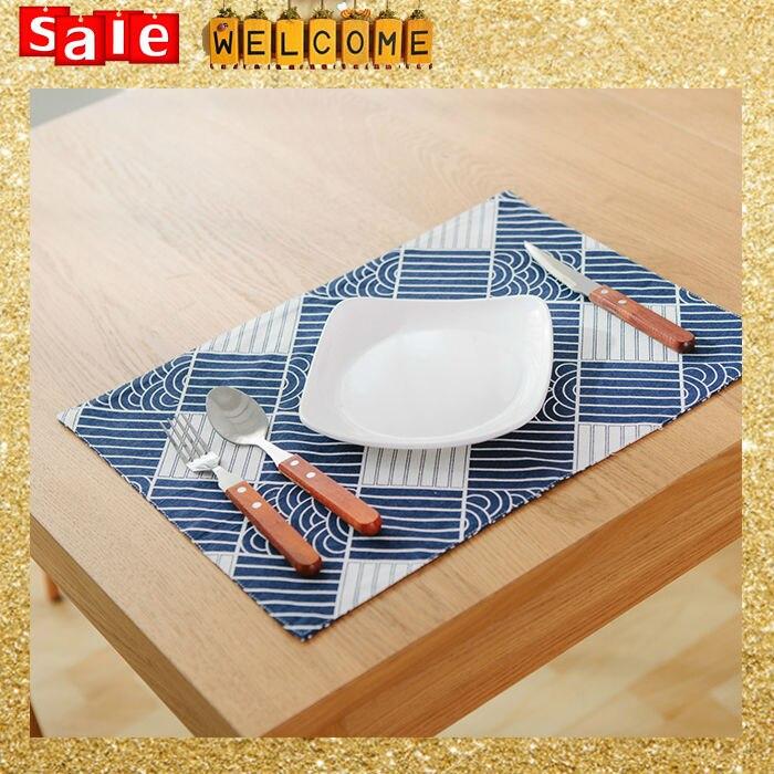 32X45CM <font><b>Cotton</b></font> Tableware <font><b>Stripe</b></font> Dinner <font><b>Cup</b></font> Mat ,Placemat Kitchen Dinning Bowl Dish Spoon Fork <font><b>Coaster</b></font> Pad Heatproof Table Mat