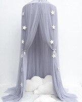 Детская кровать с противомоскитной сеткой, для детского постельного белья, Круглый купол подвесная кровать навес Chlildren украшение детской к...