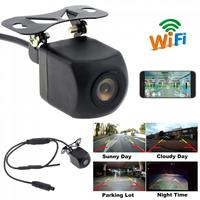 HD WIFI Car Reverse Camera Wireless Waterproof Car Rear View Camera with Video Recording Function for IOS/ Android Phone