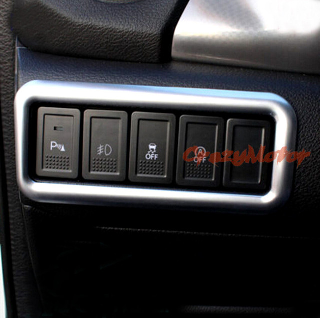 Fog Light Switch Button Cover Trim 1pcs For Suzuki Vitara Escudo 2015 2016 Car Interior Decoration
