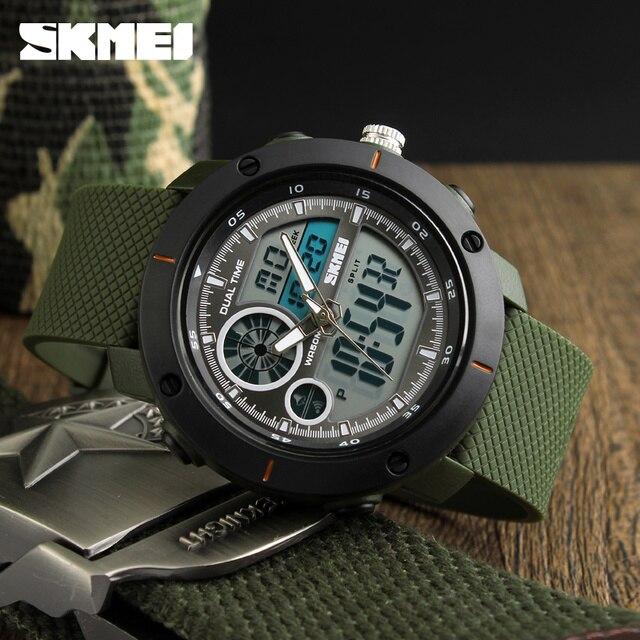 Skmei 새로운 야외 스포츠 시계 럭셔리 브랜드 디지털 쿼츠 시계 남자 방수 군사 육군 손목 시계 relogio masculino