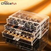 Plastic Storage Box Acrylic Makeup Organizer Rangement Maquillage Cosmetic Organizer Make Up Organizador Jewelry Box SF