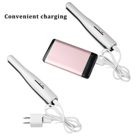 2 In 1 Cordless Hair Straightener Hair Curler Curling Iron Portable Rechargeable Ceramic Flat Iron With