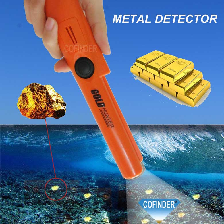 Cofinder Free shipping waterproof gold detector gold hunter at propointer orange color or green color cofinder free shipping gold hunter at deep gold detector waterproof gold detector