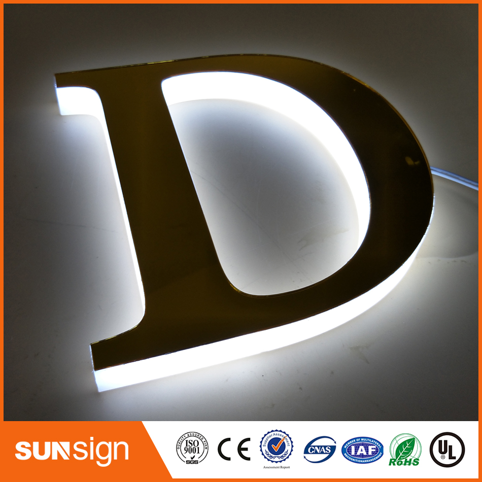 SUS304 Custom Brushed House Numbers Custom Backlit Letters And Signs