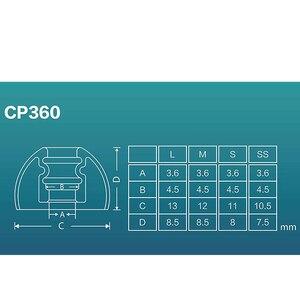 Image 3 - DUNU SpinFit CP360 סיליקון Eartips אמיתי אלחוטי Bluetooth אוזניות 1 כרטיס/2 זוגות כולל שני גדלים (קטן /נוסף קטן)