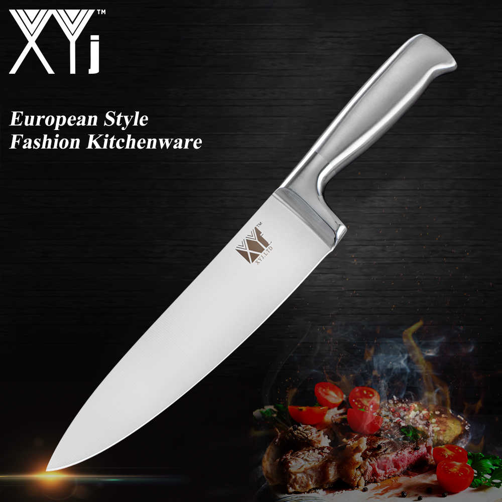 XYj New Stainless Steel Knives Kitchen Knives Light Weight Paring Utility Santoku Chef Slicing Bread Kitchen Accessories Tools