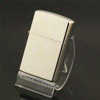 Blanc acier arc impulsion électronique allume-cigare, pur cuivre prime allume-cigare, hommes de cadeaux