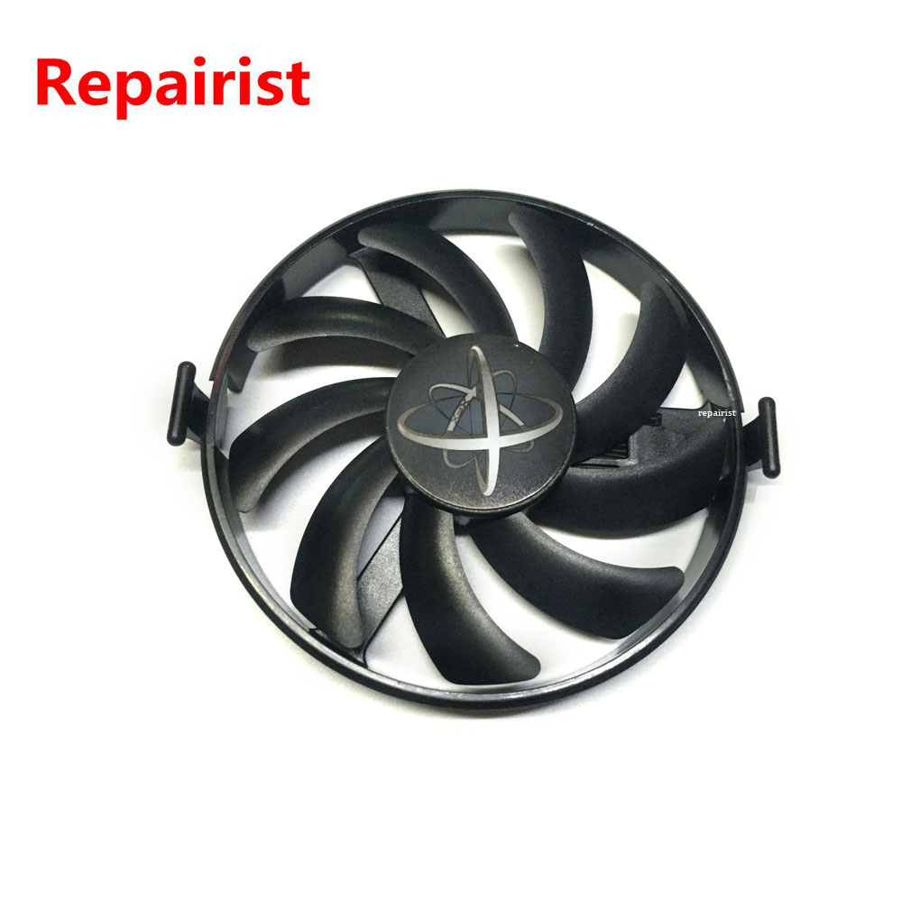 RX460 GPU Cooler Graphics Card Fan VGA Cards blower For XFX RX460 Video card cooling 75mm pld08010s12hh graphics video card cooling fan 12v 0 35a twin for frozr ii 2 msi r6790 n560gtx r6850 n460gtx dual cooler fan