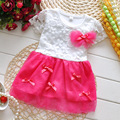 Baby girl dress vestidos  lovely flowers lace dress summer kids clothes dress for girls party birthday baby tutu dress