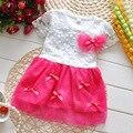 Vestido da menina do bebê vestidos lindo flores de renda vestido de verão roupa dos miúdos vestir para meninas festa de aniversário do bebê vestido tutu
