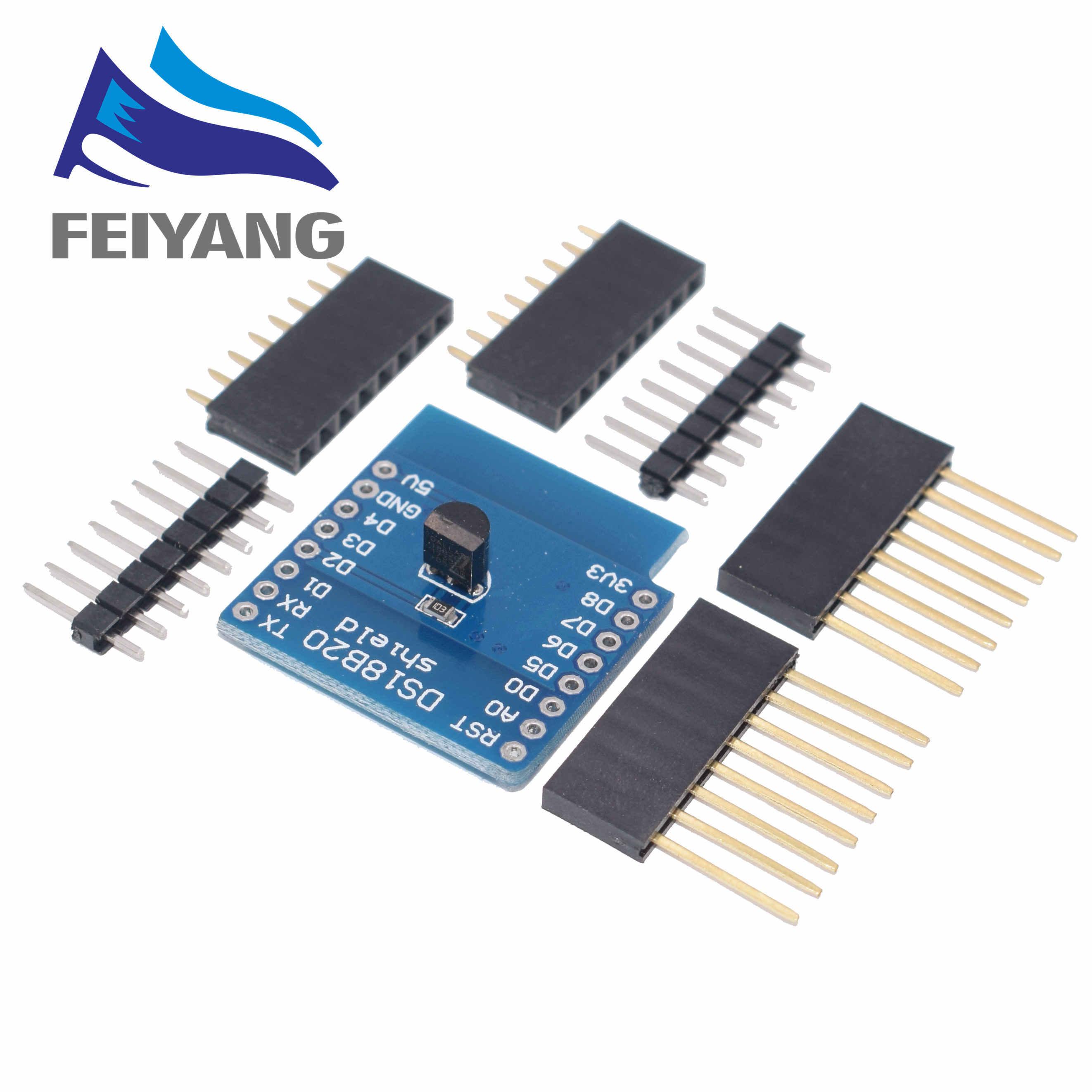 10PCS DS18B20 อุณหภูมิSensor Shield Wemos D1 Mini D1 Mini Pro ESP NodeMCU