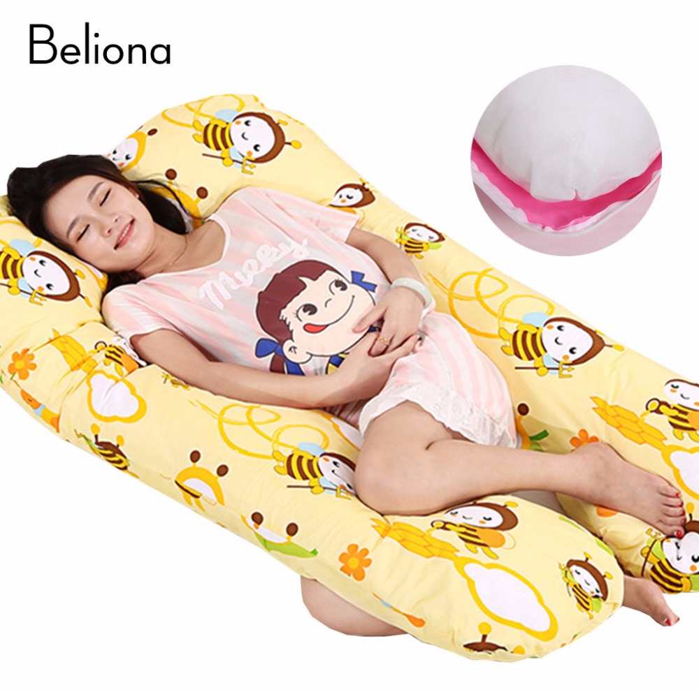 100% Cotton U-shaped Body Pillow Positional Waist Support Pillow for Pregnant Women Multifunction Side Sleep Pillow 17 Styles