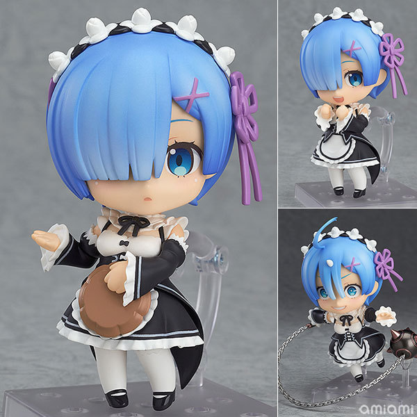 Anime Re : Life In A Different World From Zero Nendoroid 663 Blue Rem & 732 Red Ram Kawaii Cute Action Figure Toys 10cm
