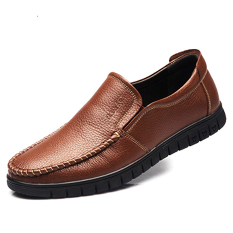 Luxury Brand Soft Genuine Leather Shoes Men Flats Slip On Loafers Driving Shoes Casual Big Size 45 Black Brown Chaussure T030807  men luxury brand new genuine leather shoes fashion big size 39 47 male breathable soft driving loafer flats z768 tenis masculino
