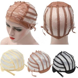 High Quality Wig Cap Making Wigs Straps Breathable Mesh Weaving Adjustable Cap 3 Styles Black Beige Brown Hot Sale(China)