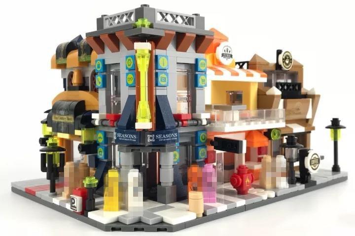 Hot Blocks Christmas Gift Mini Street Childrens Enlightenment Toys Building Blocks Modern Building Bricks Figures Toys