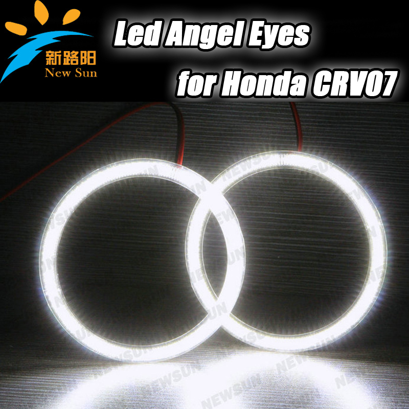 SMD LED Angel Eyes Kit xenon White Halo Rings Headlight For Honda CRV 2007 SMD led lamp white color free shipping