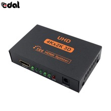 18 Эдал новые 3D К 4 к К * 2 Full HD 1080p 1X4 HDMI Splitter порты концентратор ретранслятор Amplifie для HDTV