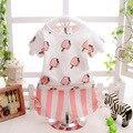 2016 verão Ice cream padrão t camisas + calça listrada 2 pcs pijama bonito do bebê roupas de menina conjuntos de vestuário infantil meninas do bebê terno