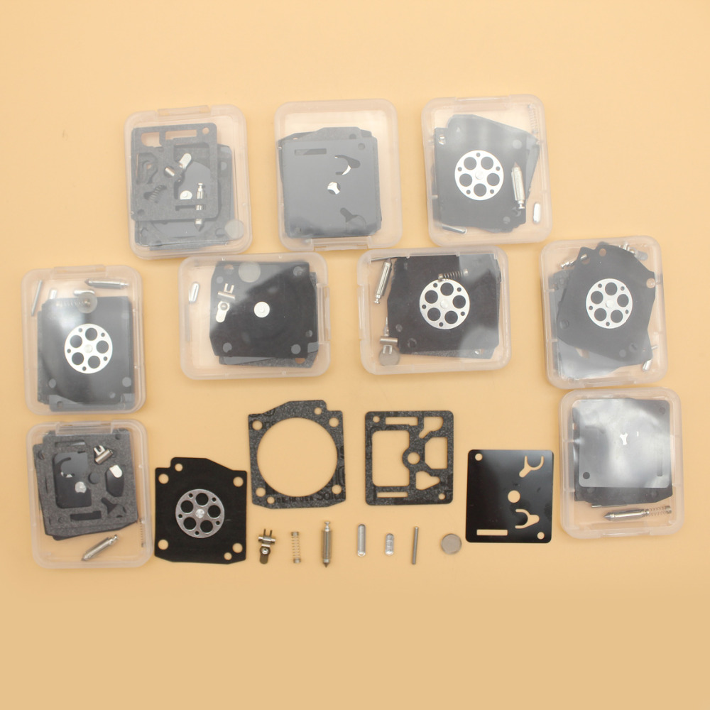 353 Lot EPA RB For 122 10Pcs Zama E Chainsaw Kit Husqvarna Carburetor 350 346XP Complete RB122 Repair 340 345
